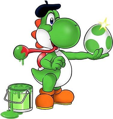T-shirt Enfant garçon Jeux Vidéo - Parodie Yoshi Island - Peinture fraîche... ;) - T-shirt Enfant garçon Noir - Haute Qualité (545)