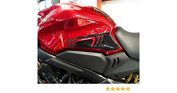 2 3D-Gelsticker LATERAL Protection kompatibel f/ür Motorrad Honda CBR 500R