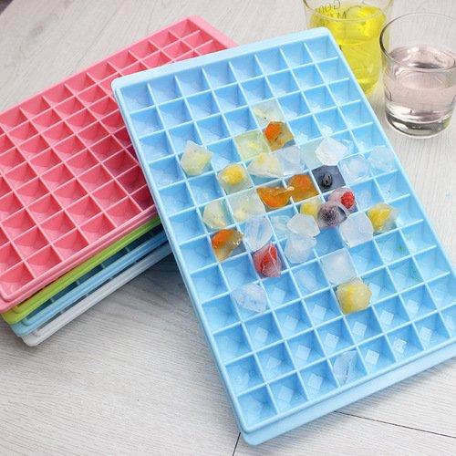TONVER Ice Cube 12Raster quadratisch Form DIY Ice Tablett Fruit Ice Cube Ice Cream Maker Küche Bar Trinken Zubehör, grün grün S (Trinken-mix, Schokolade)