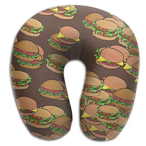 Kotdeqay U-Shaped Pillow Neck Shoulder Body Care Hamburger Love Lover Lovers Health Soft U-Pillow for Home Travel Flight Unisex Supportive Sleeping - Home Health Care-queen