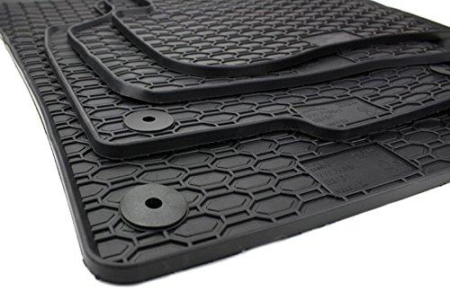 kfzpremiumteile24 Gummimatten Original Qualität Fußmatten Gummi schwarz 4-teilig Test