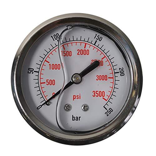 HELO '175329-6' Glycerin gefüllte 0-250 bar Manometer, 63 mm Ø, 1/4