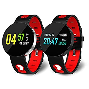 iBaste Bluetooth Smart Watch Fitness Tracker with Heart Rate Monitor IP67 Waterproof Sports Smart Bracelet Activity Tracker Sleep Monitor,Pedometer, Blood Pressure for Samsung Android iOS