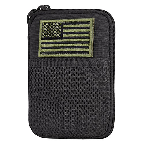 CONDOR MA16-002 Pocket Pouch with US Flag Patch Black