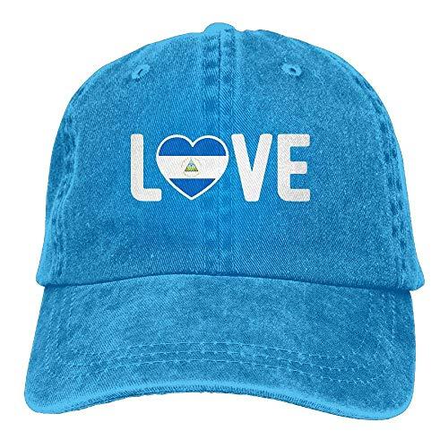 dfegyfr 2018 Erwachsene Mode Baumwolle Denim Baseballmütze Nicaragua Stolz Love-1 Classic Dad Hut Einstellbare Plain Cap Unisex8