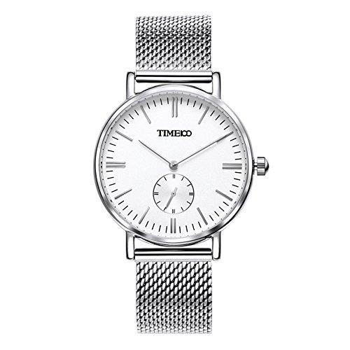 Time100 Orologio uomo acciaio con un cinturino in tela di omaggio, movimento al quarzo#W80188G.01A