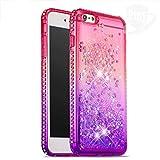 Ptny Glitter Coque Compatible iPhone 6 Plus/ 6S Plus Étui, Flowing Liquide Cristal...