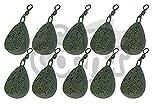 10 x Karpfen Fischen Gerät Gewichte 1,5 oz 2oz 2,5 Unzen 85g 3,5 oz Flach Birne Style Gewicht alle Größen (10 x 3oz Flach Birne)