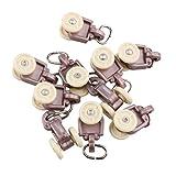 Sharplace 10 Stk. Gardinenhaken-Gleiter Leicht Vorhangschiene Haken Vorhänge Acessoire