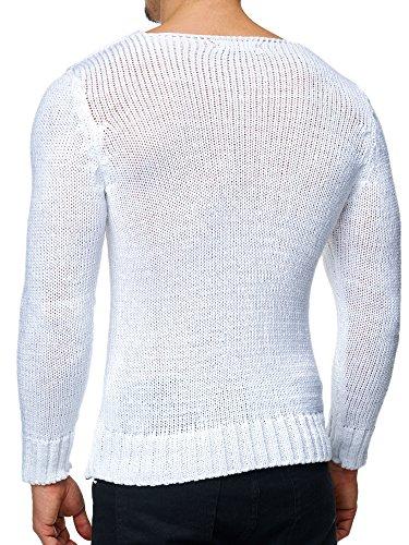 Tazzio - Pull - Homme Noir Noir Blanc - blanc