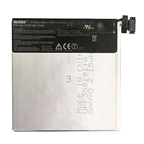 SLODA Batterie de Remplacement Pour Asus Google Nexus 7 Deuxième Génération (version 2013) Tablette ME571 ME571K ME571KL K008 K009 C11P1303 Batterie de Tampon