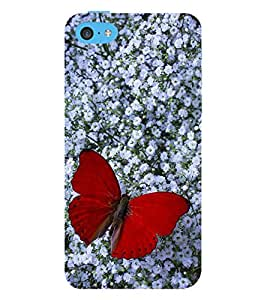 Vizagbeats Red Butterfly Back Case Cover for Apple iPhone 6