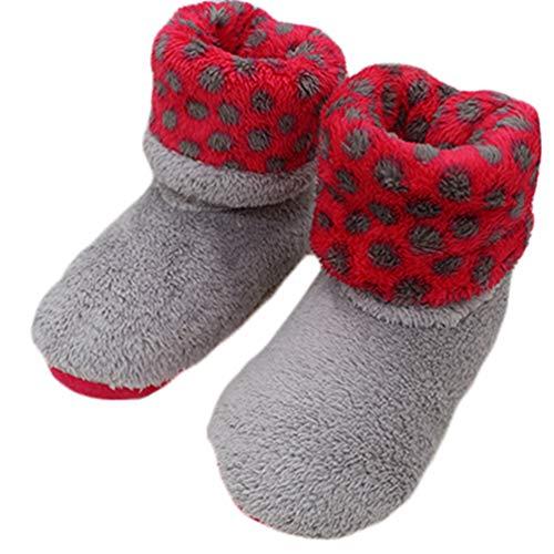 Frauen weichen Plüsch warmen Haus Hausschuhe Nähen Handarbeit Boden Flip Flop Frauen Coral Fleece Indoor-Schuhe -