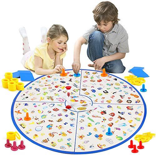 VATOS Brettspiel, Kartenspiel Kleiner Detektiv Tischspiel für Kinder Familien Party, Matching-Spiele Strategische Lernspielzeug für Kinder Kleinkinder 3,4,5,6,7 Jahre alt Jungen & Mädchen Geschenk