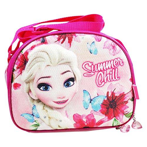 Disney frozen summer chill - porta pranzo 3d per bambini - interno termico -tracolla regolabile - colore multicolor