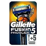 Gillette Fusion ProGlide - Maquinilla de afeitar + 5 recambios, paquete apto para el Buzón de...