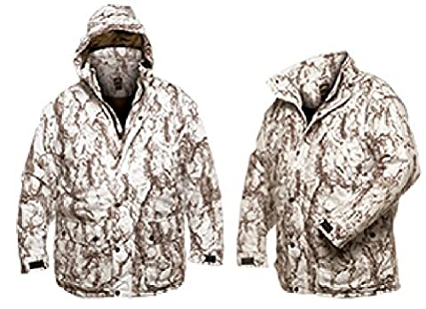 Natural Gear Waterproof Insulated Parka Snow Camo Large by Natural Gear