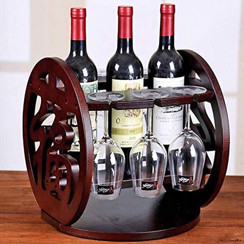 OHGQY Massivholz Ornamente Weinschrank Weinregal Weinflaschenregal Becher Weinglasregal Weinglashalter Weinregal -