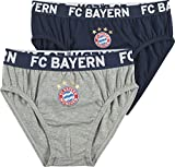 FC Bayern Slip 2er-Pack Single-Jersey dunkelblau Größe 140