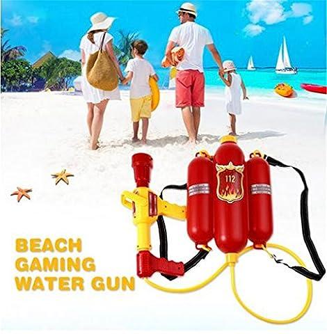 Kids Cute Outdoor Super Soaker Blaster Fire Backpack Pressure Squirt Pool Toy Children Summer Beach Gaming Water Gun