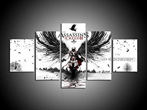 de Kunst fünf-Union Assassin Creed Leap of Faith Computer Inkjet Malerei dekorative Malerei Haus Dekoration Für Wohnzimmer ()