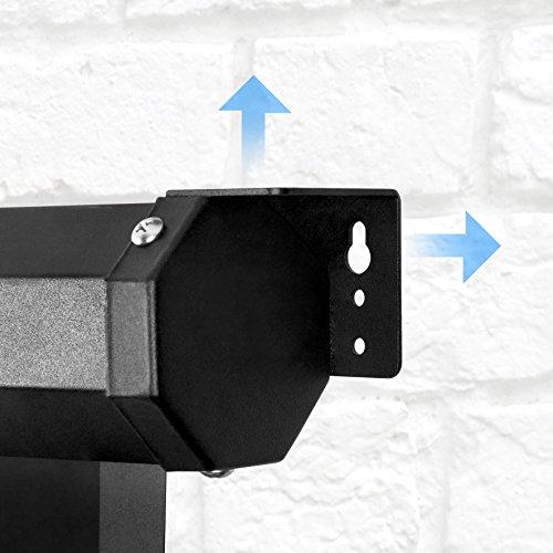 Duronic MPS 60 / 43 Projektor Leinwand / Rollo – Leinwand 100 Zoll / Nutzfläche 221×125 cm / Decke oder Wand montierbar - 6