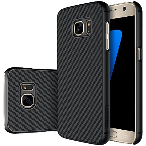 Galaxy S7Fall, Nillkin® [Carbon] Kunstfaser Premium Bumper Schutzhülle für Samsung Galaxy S7, Gummi, schwarz, Galaxy S7