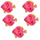 Lebendige schwimmende Fische Mini Kunststoff Plastik Aquarium Ornament de