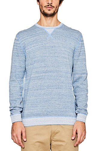 ESPRIT Herren Pullover Blau (Light Blue 440)