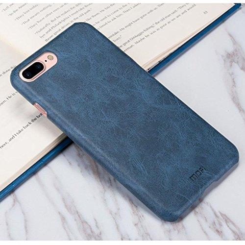 Hülle für iPhone 7 plus , Schutzhülle Für iPhone 7 Plus verrückte Pferd Textur Leder Oberfläche PC Schutzhülle zurück Deckel ,hülle für iPhone 7 plus , case for iphone 7 plus ( Color : Brown ) Dark Blue