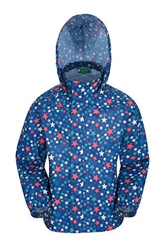 Mountain Warehouse Comet, Impermeabile per Bambini - Leggero, con Cuciture Nastrate, Unisex, Patta frangivento e Cappuccio Pieghevole - Ideale per...