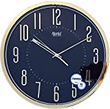 #9: Ajanta Quartz Wall Clock with Round Dail Shape 2757 Black For Office and Home