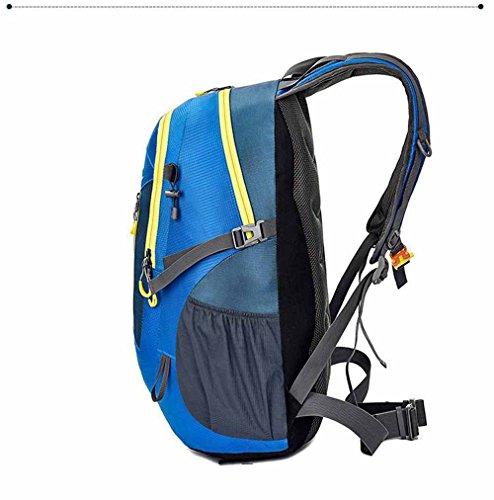 AllureFeng Bergsteigen Outdoor-Tasche für Männer und Frauen im outdoor Sport wasserdicht Wandern Rucksack 40L Rucksack Black