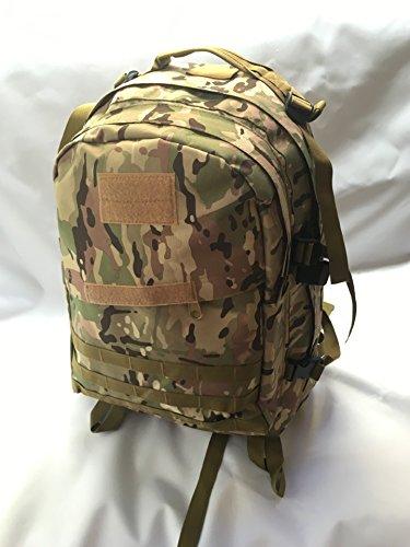 Impermeabile Alpinismo Oxford bag zainetto uomo doppia sacca borsa a tracolla camouflage outdoor sports zaino 50*38*28cm, verde militare Numero della giungla
