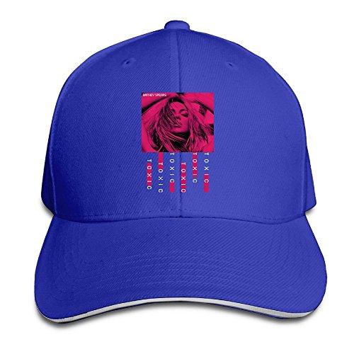 Huseki Hotgirl4 Adult Britney Spears Toxic Adjustable Baseball Cap Black RoyalBlue -