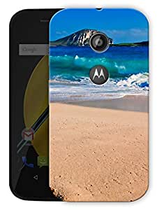 "Humor Gang Beach Life Printed Designer Mobile Back Cover For ""Motorola Moto E2"" (3D, Matte Finish, Premium Quality, Protective Snap On Slim Hard Phone Case, Multi Color)"
