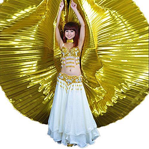 Calcifer® Marke neue Ägyptische Ägypten Belly Dance Flügel Isis Flügel Kostüm Geschenk für Big Party Weihnachten (Gold) (Party Kostüm Internationalen Versand)