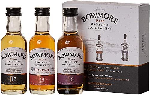 Bowmore Whisky Miniaturen-Set 12, 15, 18 Jahre (3 x 0.05 l)