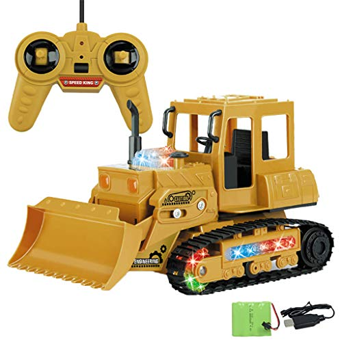 Juguete del Coche camión de Juguete Excavadora 1:24 RC 4-Channel Tractor Truck Digger Car 2.4G Ingeniero de Control Remoto Regalos Creativos para Niños Holatee