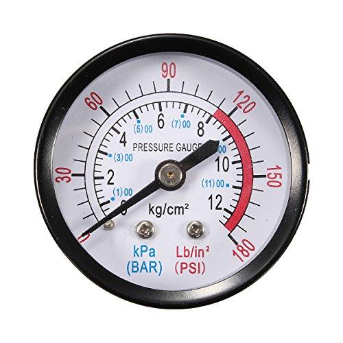 MASUNN 1/4 Filetto Bsp 0-180Psi 0-Manometro Aria 12Bar Per Compressore Aria '