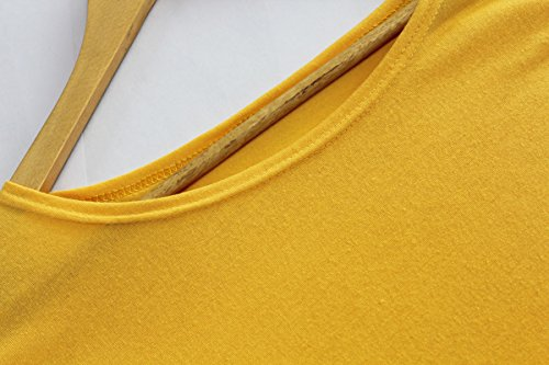 KingField - Robe - Crayon - Manches Longues - Femme Medium Jaune - Jaune
