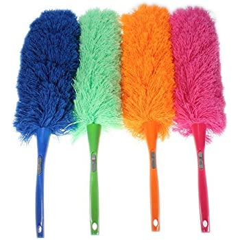 Grey Adjustable Stretch Extend Microfiber Feather Duster Dusting Brush