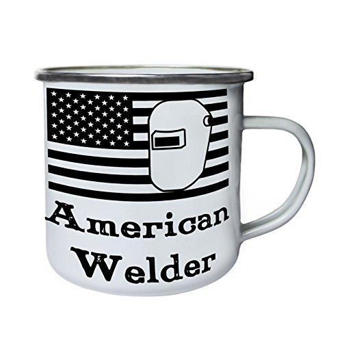 Amerikanisches Schweißgerät Retro, Zinn, Emaille 10oz/280ml Becher Tasse s671e