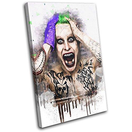 Bold Bloc Design - Suicide Squad Joker Abstract Movie Greats 60x40cm SINGLE Leinwand Kunstdruck Box gerahmte Bild Wand hangen - handgefertigt In Grossbritannien - gerahmt und bereit zum Aufhangen - Canvas Art Print