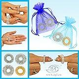 2 x 2er Fingermassageringe Akupressur Energie-Ring Massageringe Groß & Klein + Gold & Silber