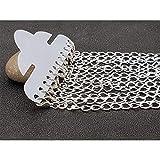 Creafirm - 12 Bracelets Argentés 20cm avec fermoirs