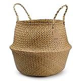 Cestino di vimini di Seagrass con manici, cesto portabiancheria di grandi dimensioni