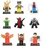 Modbrix 9 Stk. Avengers Fanfiction Minifiguren Super Heroes Figuren