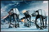 Star Wars Poster AT-AT Fighter (62x93 cm) gerahmt in: Rahmen schwarz