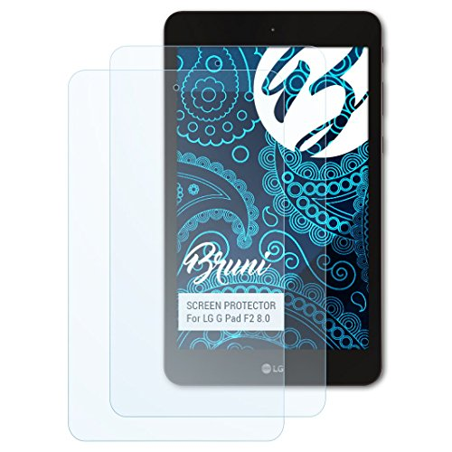 Bruni Schutzfolie kompatibel mit LG G Pad F2 8.0 Folie, glasklare Bildschirmschutzfolie (2X)